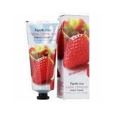 FarmStay крем для рук на экстракте Клубники Visible Difference Hand Cream Strawberry 100 мл