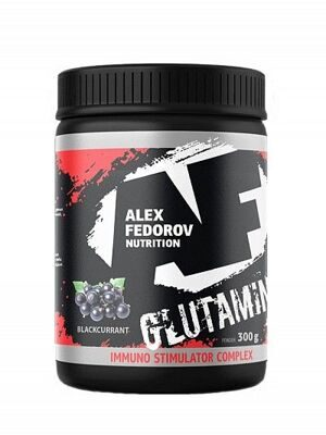 Глютамин GLUTAMINE +ISC Raspberry 300g Alex Fedorov Nutrition