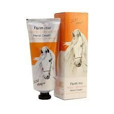 FarmStay крем для рук на основе жира лошади Visible Difference Hand Cream Jeju Mayu 100 мл