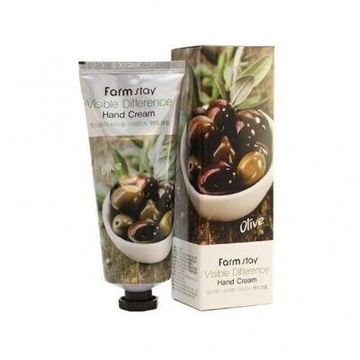 FarmStay крем для рук  на основе оливкого масла Visible Difference Hand Cream Olive 100 мл